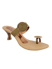 brown leatherette sandals -  online shopping for sandals