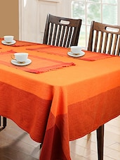 Dhrohar Hand Woven Cotton,  Table Cover And 4 Mat Set For 4 Seater Table, Set Of 5 - By