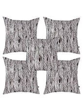 "Atlaa Batlaa 16""X16"" Printed Cushion Cover (ABCC16007) - Pack Of 5 - By"
