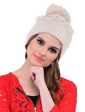 Beige Polyester Cap - By - 12484404