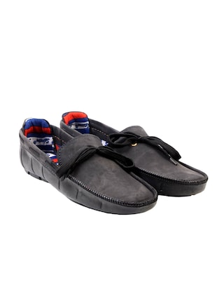 black synthetic slip on moccasins -  online shopping for Moccasins