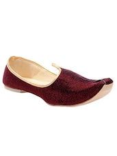 brown synthetic slip on jutis -  online shopping for Jutis
