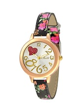 Botti Silver Dial Analog Watch with Multicolor Floral Band for Women -BOT-0033 -  online shopping for Wrist watches
