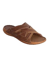 brown Leather slipper -  online shopping for Slippers