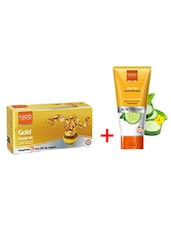 VLCC Gold Facial Kit With Free VLCC Clear Tan Fruit Face Pack Worth Rs 95/- - By