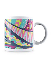 Multicolor Abstract Pattern Ceramic Mug - By