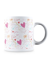 Multicolor Romantic Pattern  Ceramic Mug - By