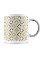 Multicolor Home Work Art Design Pattern Ceramic Mug - By