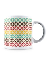 Multicolor Pattern In Retro Style Ceramic Mug - By