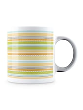 Multicolor Colorful Lines Pattern Ceramic Mug - By