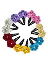 Pair of 7Crochet Hair Clips -  online shopping for Hair accessories