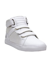 white Leatherette Slip on sneaker -  online shopping for Sneakers