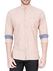 neutral cotton casual shirt -  online shopping for casual shirts