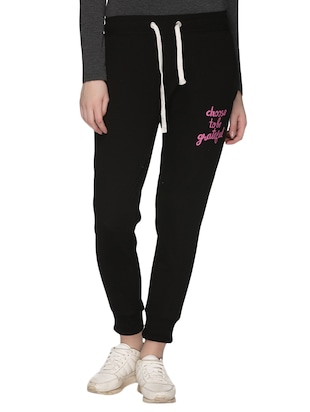 black fleece track pants -  online shopping for Track pants