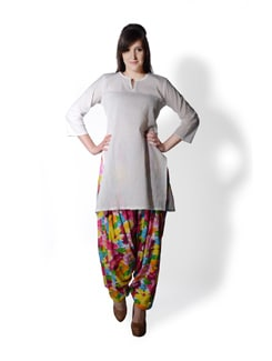 Multicolored Floral Patiala Salwar - SHREE