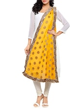 Yellow Chiffon Banarasi Dupatta - By