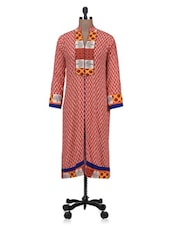 Red Rayon Printed Kurta - By