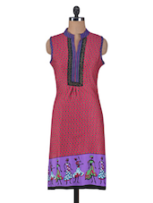 Pink Cotton Printed Kurta - By