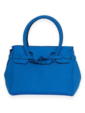 Solid Royal Blue Neoprene Handbag - By