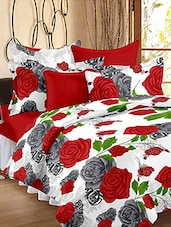 Story @ Home 152 TC 100% Cotton Red 1 Double Bedsheet With 2 Pillow Cover -  online shopping for bed sheet sets