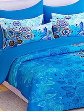 Story @ Home 100% Cotton Blue Floral 1 Double Bedsheet With 2 Pillow Covers -  online shopping for bed sheet sets