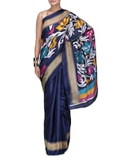 Multicolored Cotton Silk Party Wear Saree - By