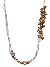 Golden Metalic Embellished Pretty Necklace - By