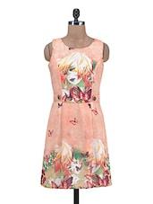 Pink Poly Georgette Printed Dress - By