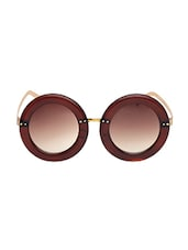 6by6 Golden & Brown Round Women Sunglasses - By