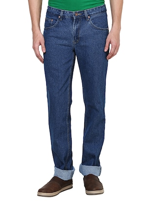 blue cotton plain jeans -  online shopping for Jeans