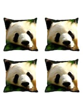 MeSleep 3D Panda Digitally Printed Cushion Cover (16X16)- Set Of 4 - By