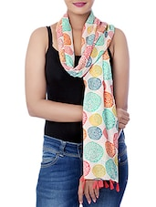 Aqva Swindon Printed 100% Cotton Voile Women's Multicolor Scarf -  online shopping for Scarves