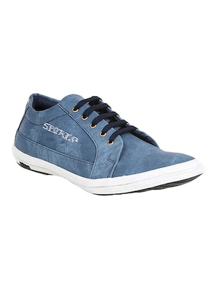 blue canvas lace up shoes -  online shopping for Shoes