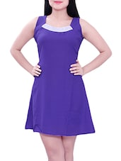 blue cotton aline dress -  online shopping for Dresses