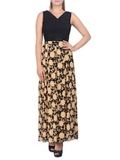 black floral cotton maxi dress -  online shopping for Dresses