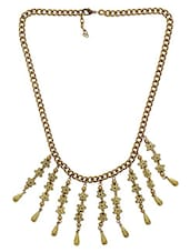 Golden Metalic Beaded Necklace - By