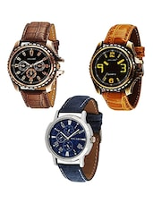 Set of 3 Analog watch combo -  online shopping for Watch Combos