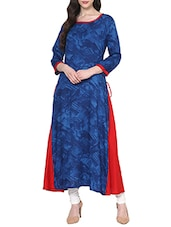 blue rayon long kurta -  online shopping for kurtas