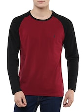 maroon cotton tshirt -  online shopping for T-Shirts