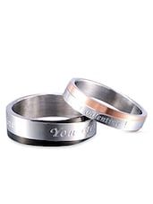 Silver Satin Less Steel Hand Ring - By