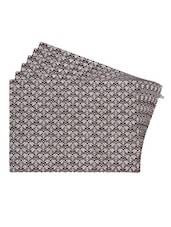 Brown Printed Reversible Placemats For Dining Table - Unique Designs Both Sides - Set Of 6 - By - 12590109