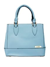Blue Faux Leather Bag - By