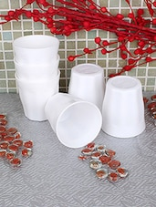 White Food Grade Plastic Drinking Glass Set - By