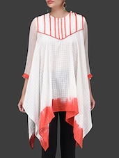 Off-white Cotton Asymmetrical Top - By