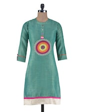Black Khadi Cotton Printed Kurta - By