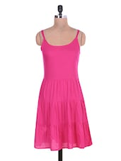Solid Pink Rayon Dress - By