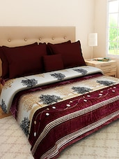 Multicolored Printed Double Bed AC Blanket - By