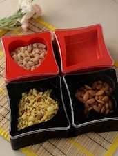 Black Plastic Small Bowl For Nuts And Snacks - By
