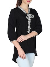 black crepe top -  online shopping for Tops