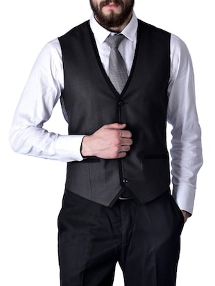 grey cotton waist coat -  online shopping for Waist coat